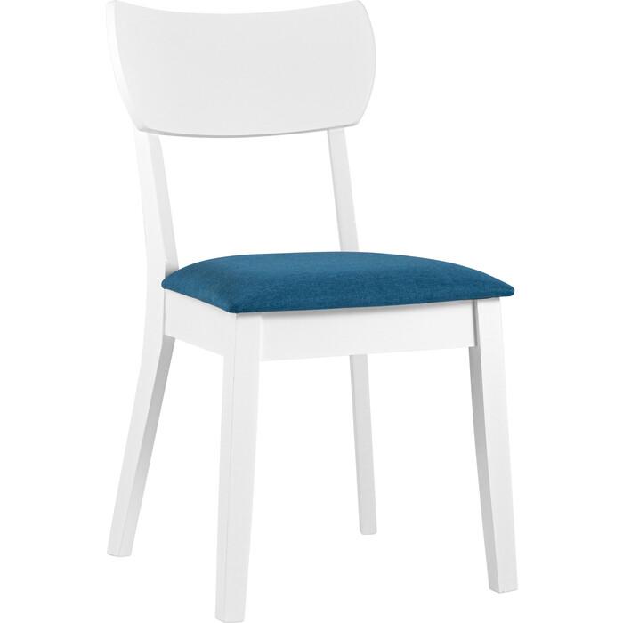 Стул обеденный Stool Group Tomas white белый мягкое сидение синее MH51755 APPLE-7 blue
