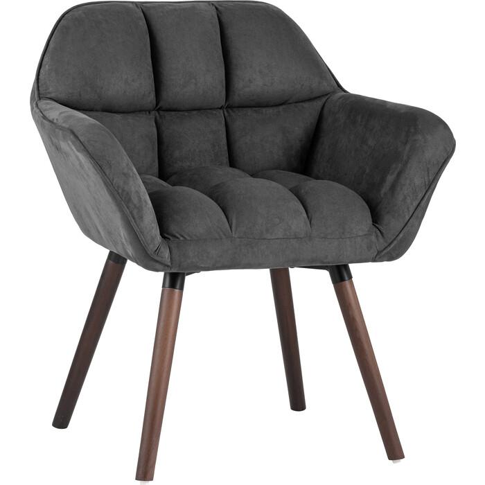 Кресло Stool Group Брайан замша темно-серый Bruyne HY-54