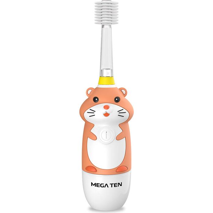 Детская электрическая зубная щетка MEGA Ten Kids Sonic 121-MKS062 Хомячок звуковая зубная щетка mega ten kids sonic обезьянка фиолетовый белый