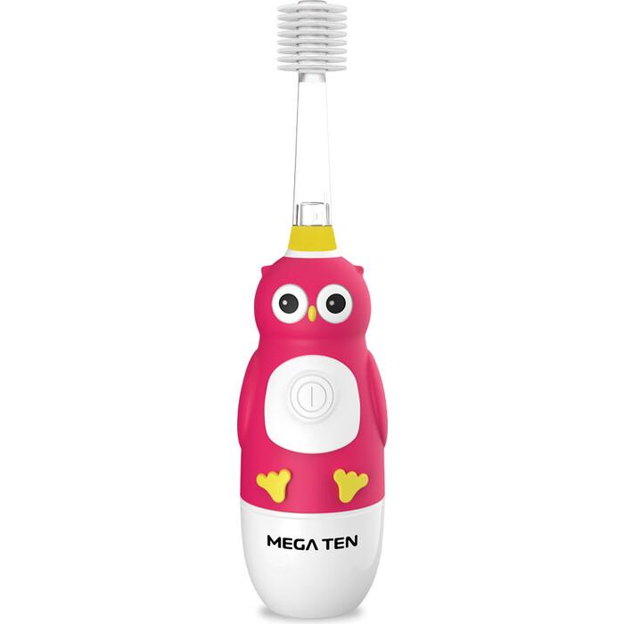 Детская электрическая зубная щетка MEGA Ten Kids Sonic 121-MKS030 Совушка звуковая зубная щетка mega ten kids sonic обезьянка фиолетовый белый
