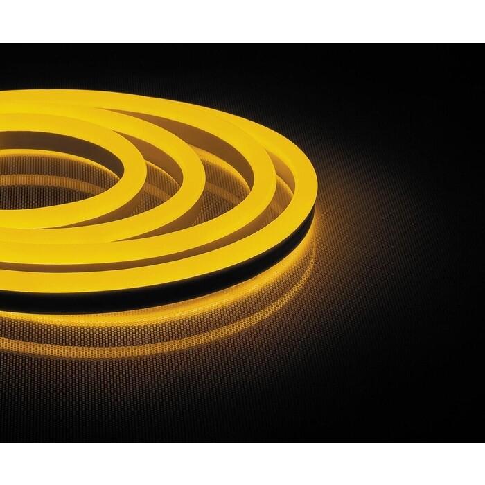 Лента Feron Светодиодная неоновая влагозащищенная 12W/m 144LED/m 2835SMD желтый 50M LS721 32715