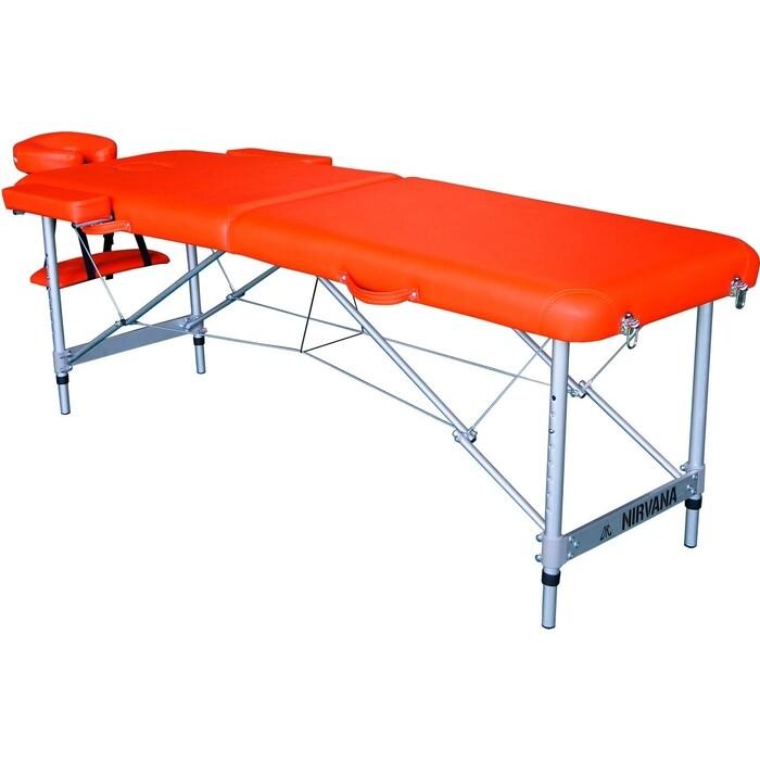 Массажный стол DFC Elegant, 186x60x4 см, алюм. ножки, цвет оранжевый (Orange)