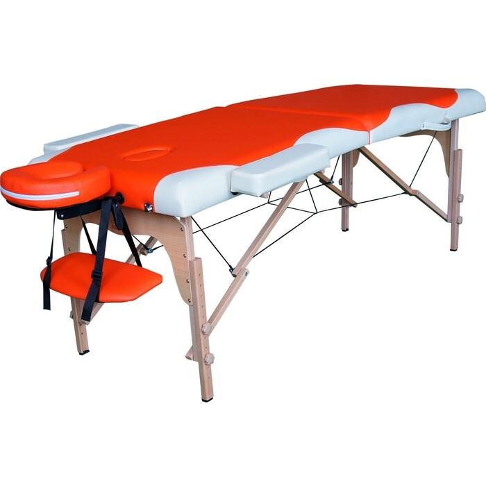 Массажный стол DFC Relax, дерев. ножки, цвет оранж.крем.