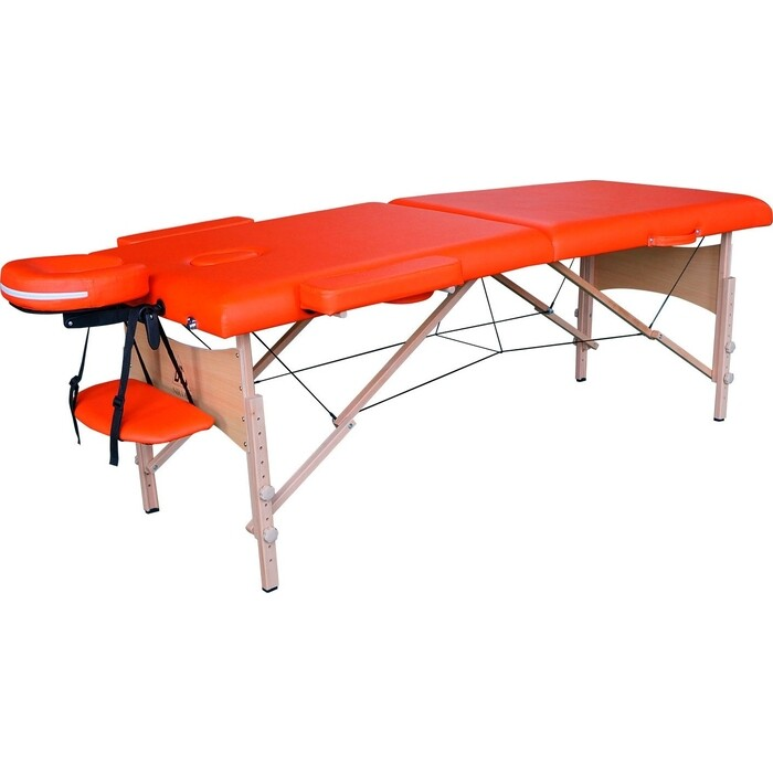 Массажный стол DFC Relax, дерев. ножки, цвет оранжевый (Orange)