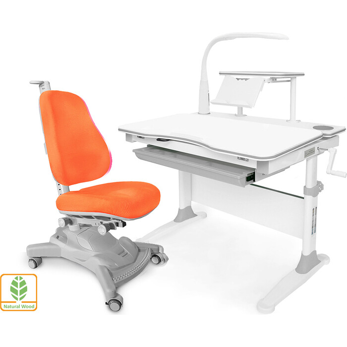 Комплект (стол+полка+кресло+чехол+лампа) Mealux Evo-30 G (Evo-30 + Y-418 KY) дерево