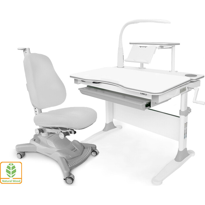 Комплект (стол+полка+кресло+чехол+лампа) Mealux Evo-30 G (Evo-30 + Y-418 G) дерево