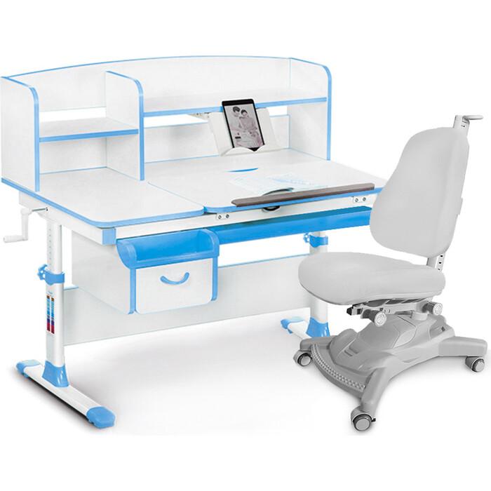 Комплект (стол+полка+кресло+чехол) Mealux Evo-50 BL (Evo-50 + Y-418 G)