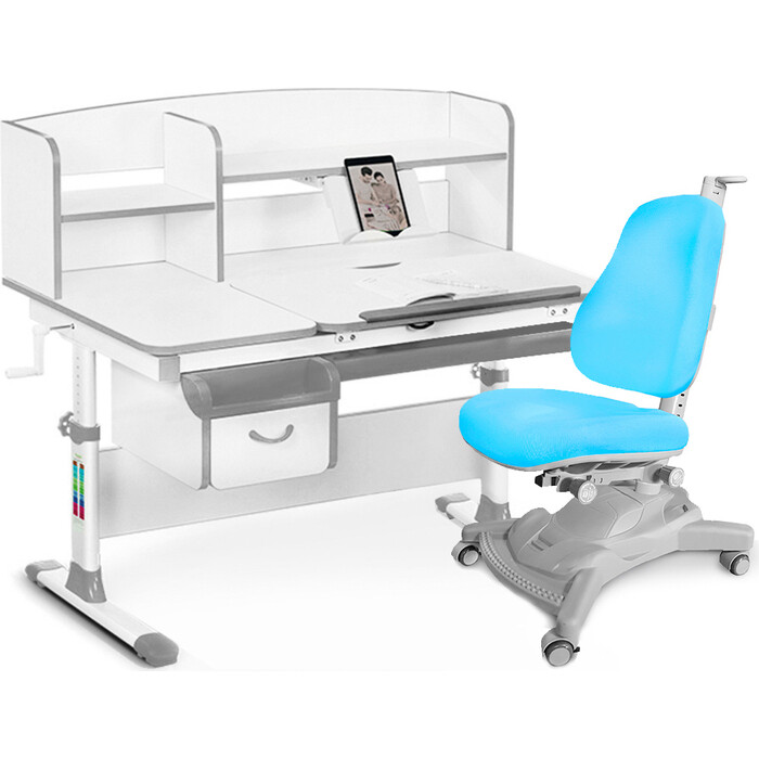 Комплект (стол+полка+кресло+чехол) Mealux Evo-50 G (Evo-50 + Y-418 KBL)