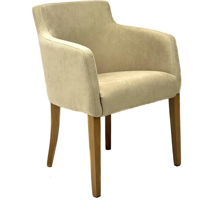 Кресло TetChair Knez бук ножки натуральный, ткань бежевый (panda 18)