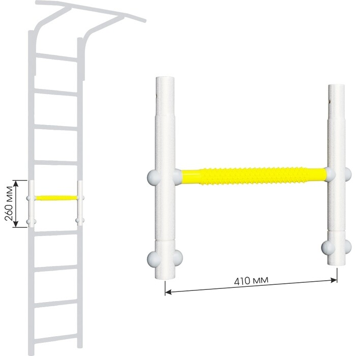 Вставка для увеличения высоты Romana ДСКМ 410 Dop8 (6.06.00) белый прованс/жёлтый