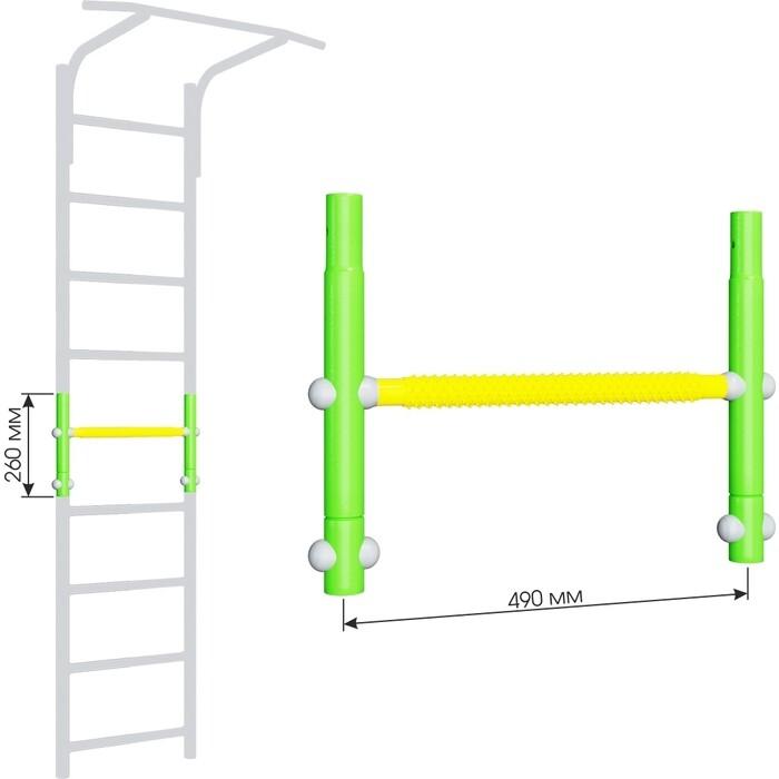 Вставка для увеличения высоты Romana ДСКМ 490 Dop9 (6.06.01) зелёное яблоко/жёлтый вставка romana 2 520 мм дскм во 92 70 2 06 490 04 синяя слива