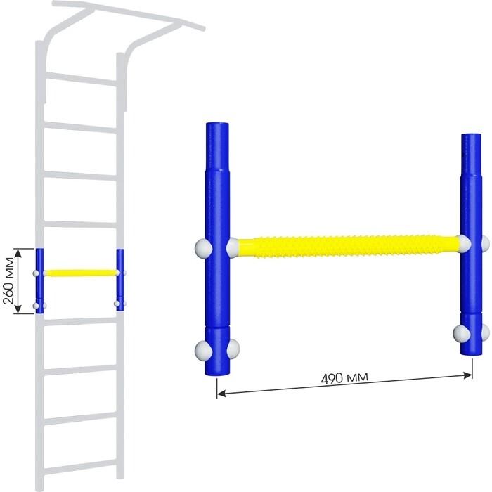 Вставка для увеличения высоты Romana ДСКМ 490 Dop9 (6.06.01) синяя слива/жёлтый вставка romana 2 520 мм дскм во 92 70 2 06 490 04 синяя слива