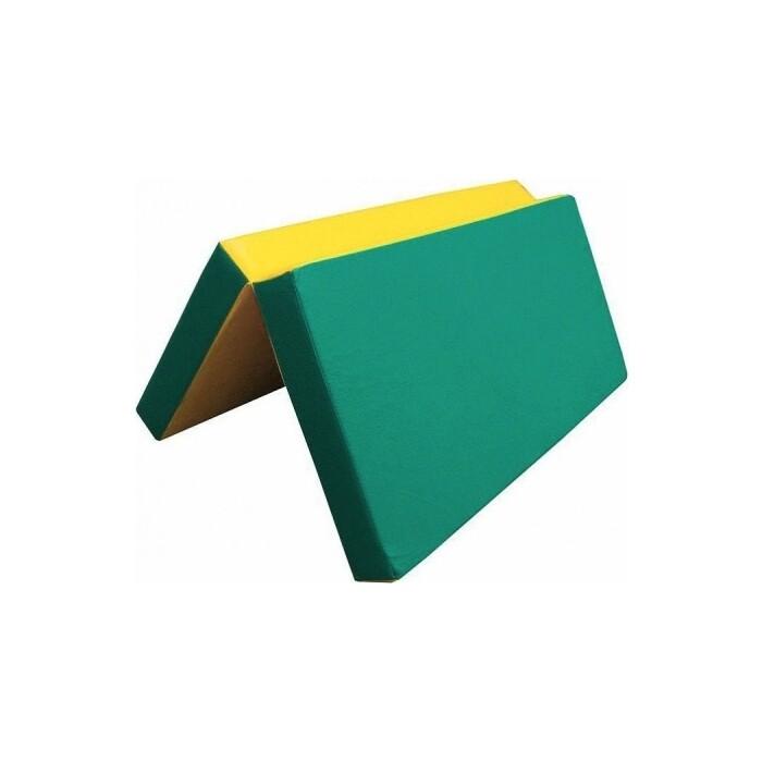 Мат Kampfer №4 (100 х 100 10) складной зеленый/желтый