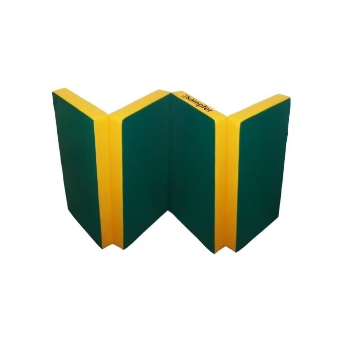 Мат Kampfer №7 (200 х 100 10) складной зеленый/желтый