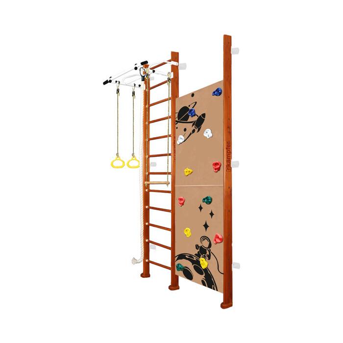 Детский спортивный комплекс Kampfer Jungle Wall Boy №4 Вишневый Высота 3 м белый турник
