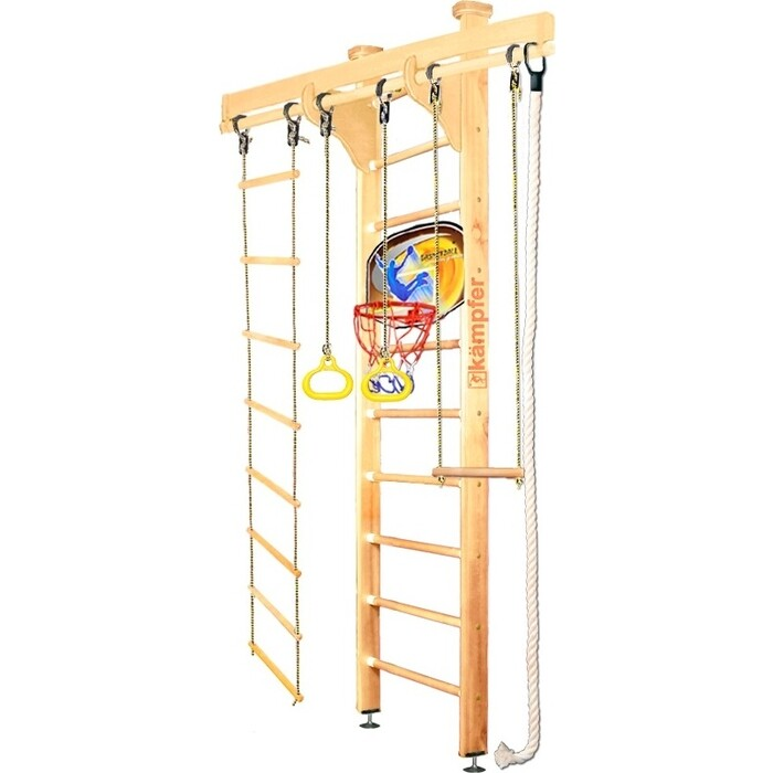Шведская стенка Kampfer Wooden Ladder Ceiling Basketball Shield №1 Натуральный Стандарт