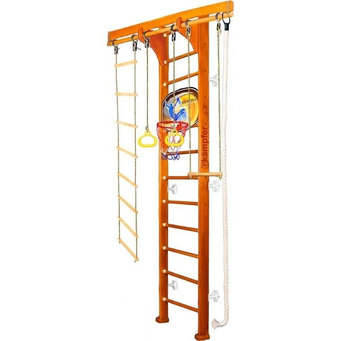 Детский спортивный комплекс Kampfer Wooden Ladder Wall Basketball Shield №3 Классический Высота 3 м белый