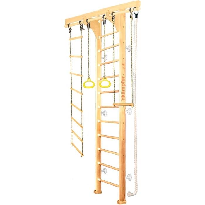 Шведская стенка Kampfer Wooden Ladder Wall №1 Натуральный Высота 3 м белый