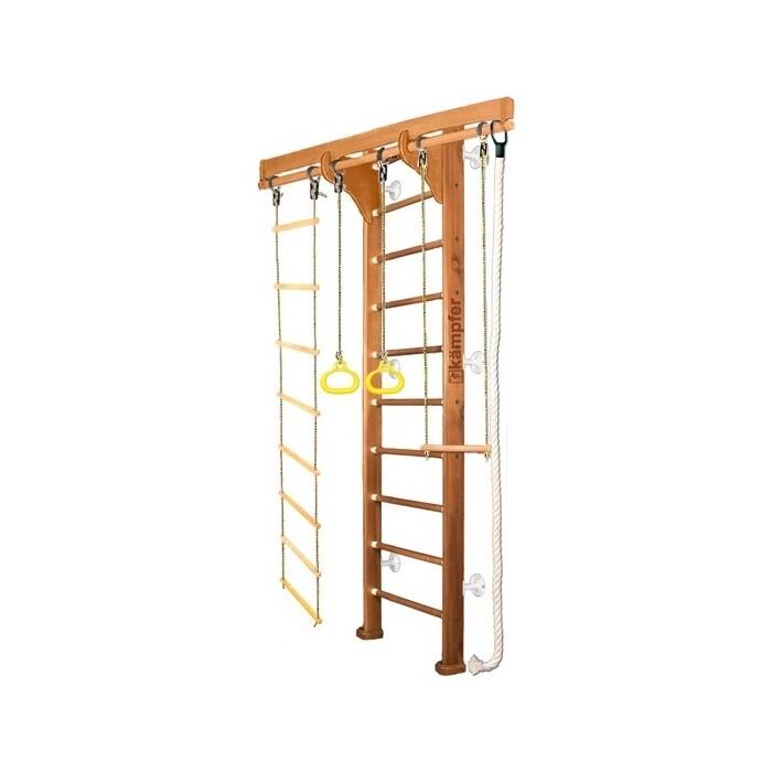 Детский спортивный комплекс Kampfer Wooden Ladder Wall №2 Ореховый Стандарт белый