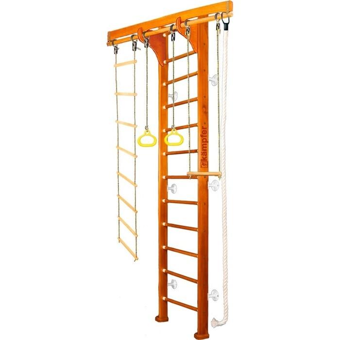 Шведская стенка Kampfer Wooden Ladder Wall №3 Классический Высота 3 м белый