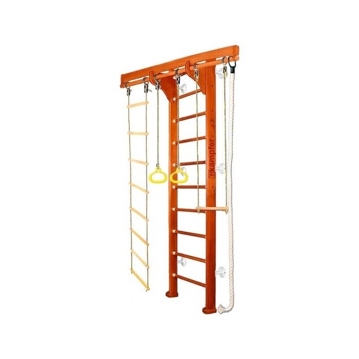 Детский спортивный комплекс Kampfer Wooden Ladder Wall №4 Вишневый Стандарт белый