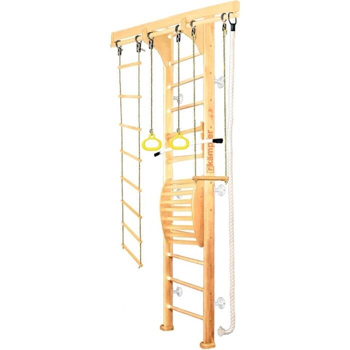 Детский спортивный комплекс Kampfer Wooden ladder Maxi Wall №1 Натуральный Высота 3 м белый
