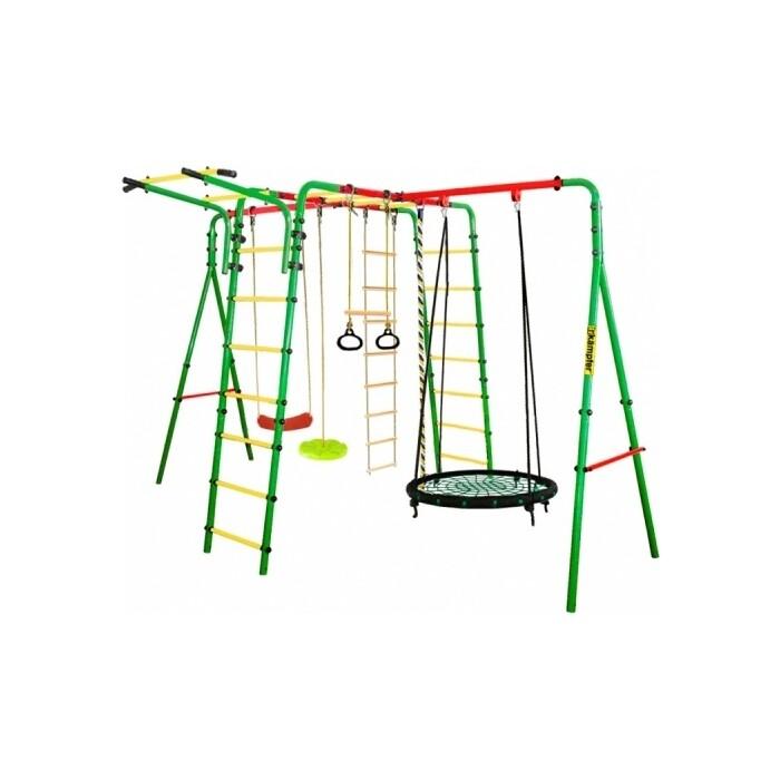 Детский спортивный комплекс Kampfer Wunder Гнездо среднее зеленое (зеленая лиана)