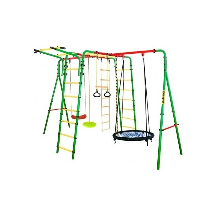 Детский спортивный комплекс Kampfer Wunder Гнездо среднее синее (зеленая лиана)