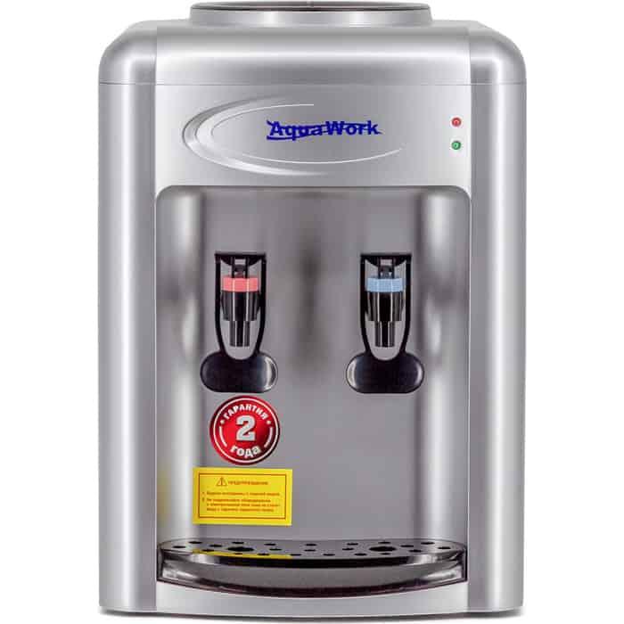 Кулер для воды Aqua Work AW 0.7TKR (серебро), только нагрев, настольный