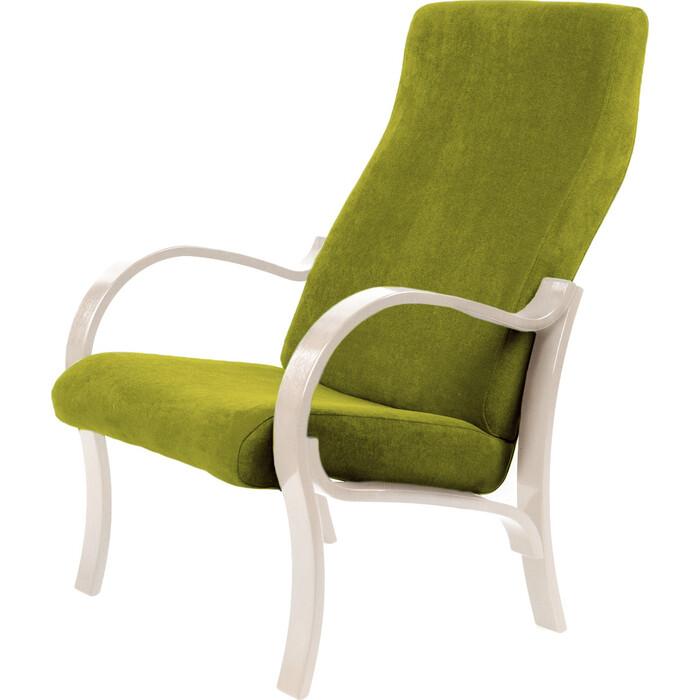 Кресло Мебелик Милан ткань лайм/каркас дуб шампань