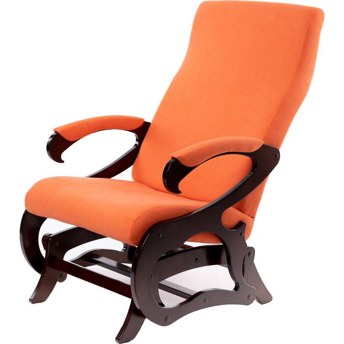 Кресло-слайдер Мебелик Верона без вставки ткань оранж/каркас орех