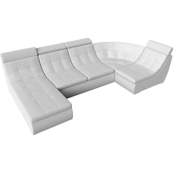 Фото - П-образный модульный диван Лига Диванов Холидей Люкс экокожа белый угловой модульный диван лига диванов холидей экокожа бежевый