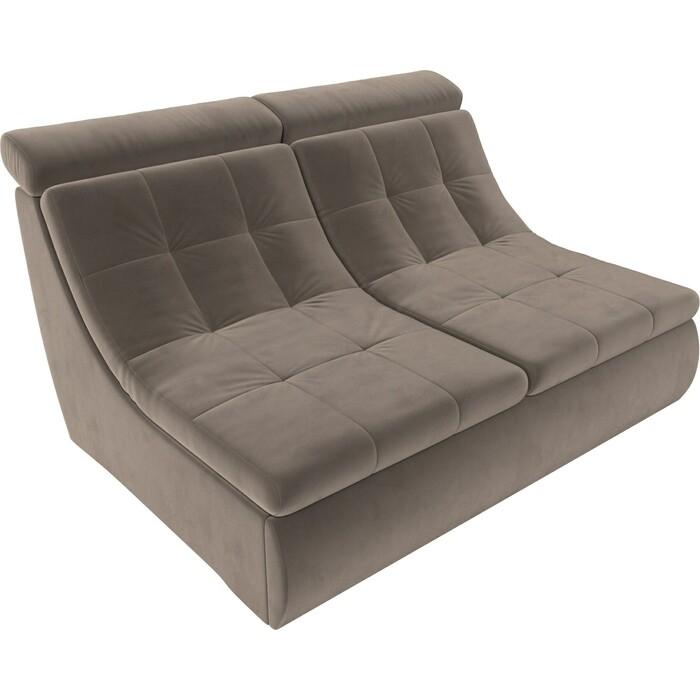 Модуль Лига Диванов Холидей Люкс раскладной диван велюр коричневый диван п образный лига диванов бостон велюр mr коричневый