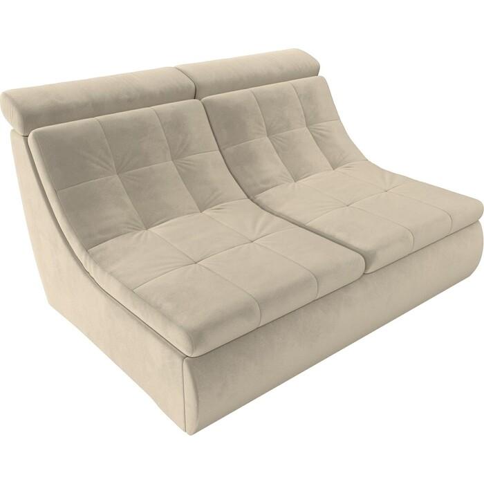 Модуль Лига Диванов Холидей Люкс раскладной диван микровельвет бежевый