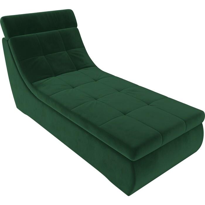 Модуль Лига Диванов Холидей Люкс канапе велюр зеленый
