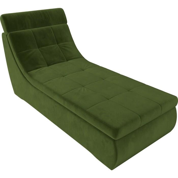 Фото - Модуль Лига Диванов Холидей Люкс канапе микровельвет зеленый модуль лига диванов холидей люкс канапе микровельвет бежевый