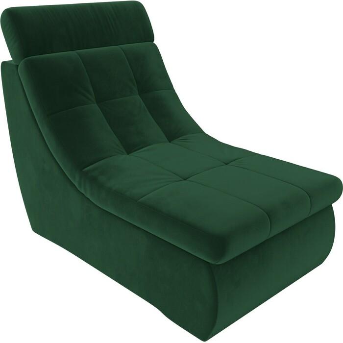 Модуль Лига Диванов Холидей Люкс кресло велюр зеленый