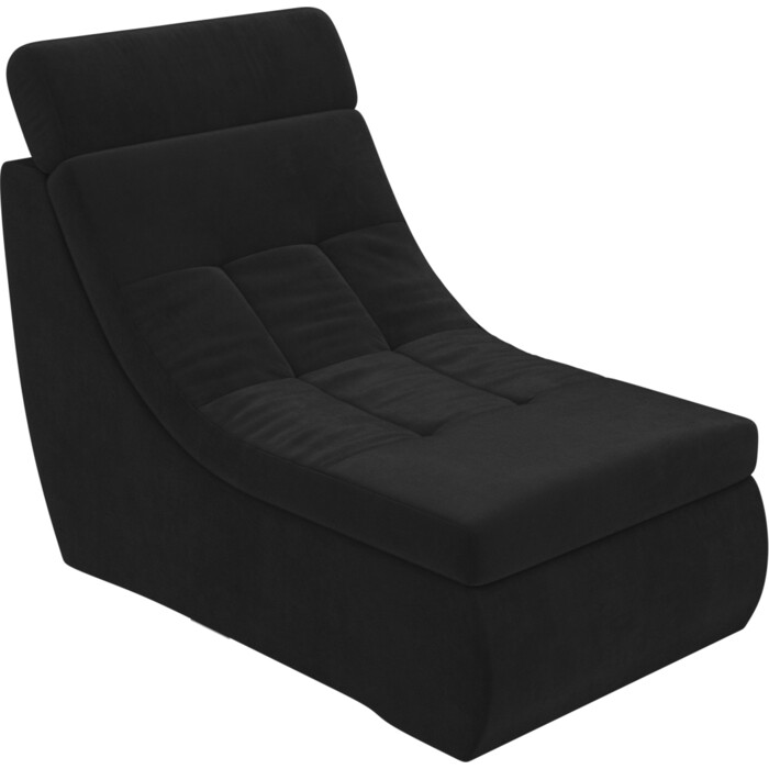Модуль Лига Диванов Холидей Люкс кресло велюр черный