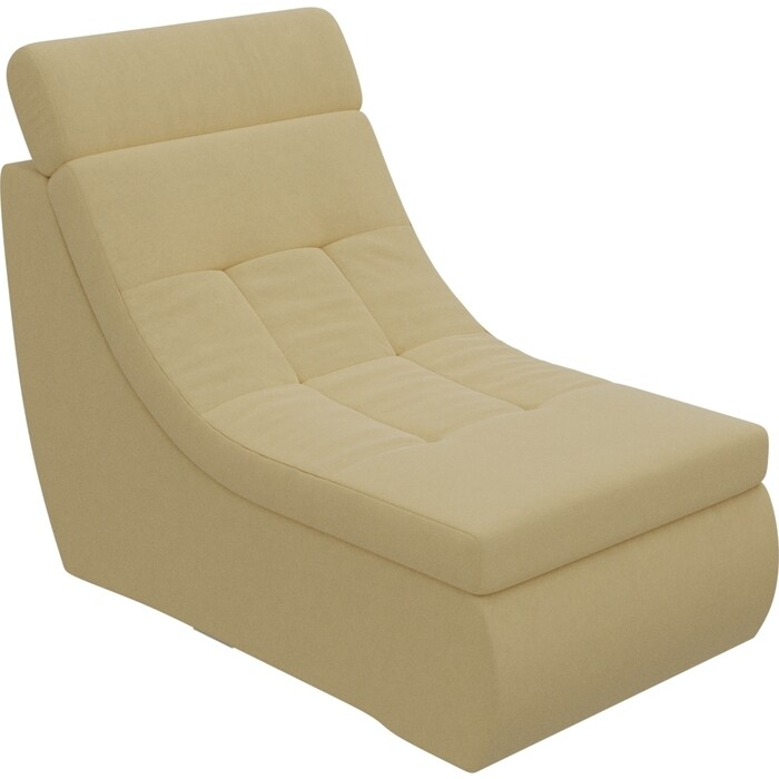 Модуль Лига Диванов Холидей Люкс кресло микровельвет желтый