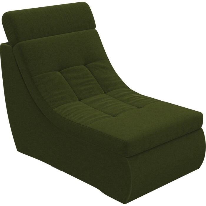 Модуль Лига Диванов Холидей Люкс кресло микровельвет зеленый