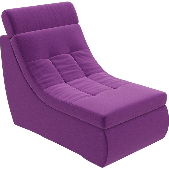 Модуль Лига Диванов Холидей Люкс кресло микровельвет фиолетовый
