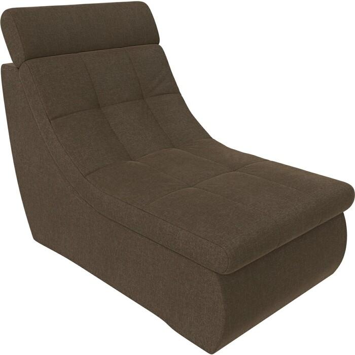 Модуль Лига Диванов Холидей Люкс кресло рогожка коричневый