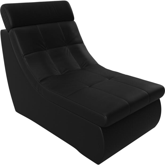 Модуль Лига Диванов Холидей Люкс кресло экокожа черный