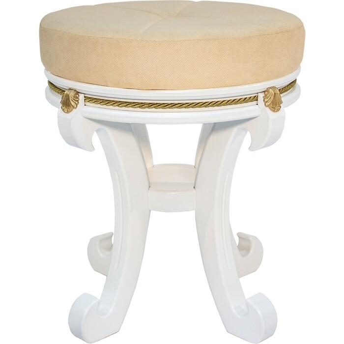 Банкетка Мебелик Глория молочный дуб, ткань Verona Vanilla
