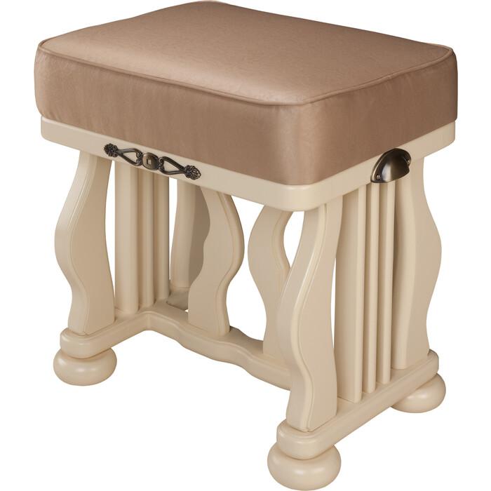 Банкетка Мебелик Джульетта дуб шампань, ткань крем