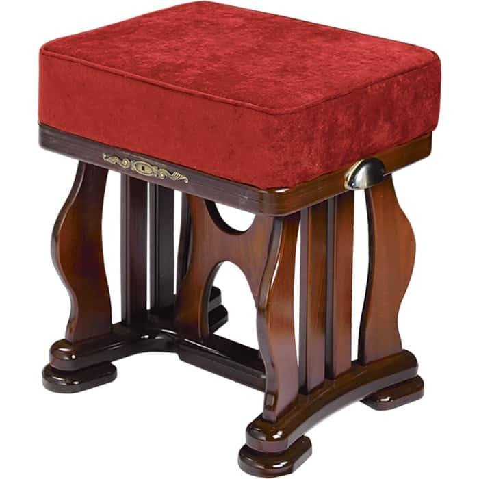 Банкетка Мебелик Джульетта орех ткань бордовая
