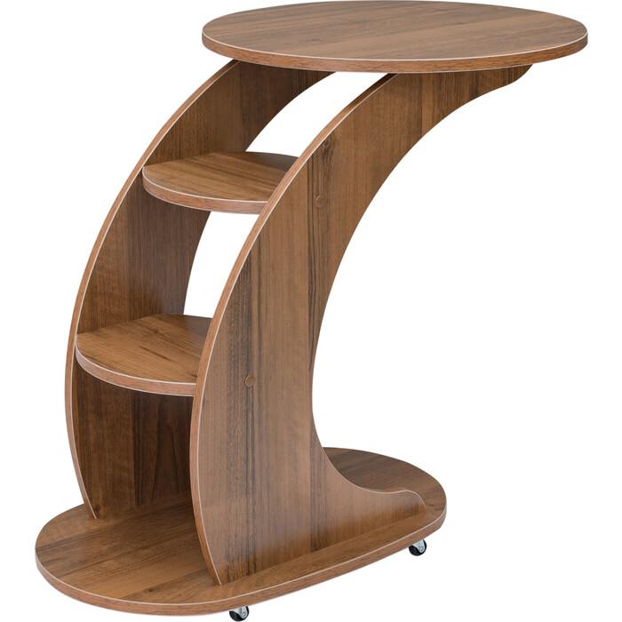 Подкатной столик Мебелик Стелс орех