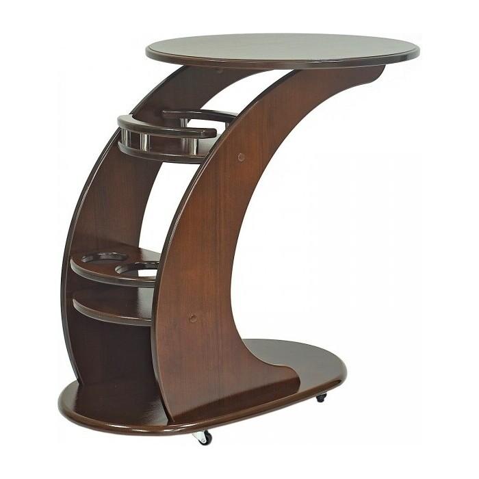 Придиванный столик Мебелик Люкс орех