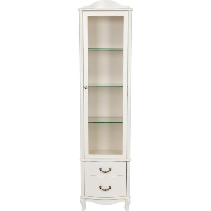 Мебелик Шкаф-витрина Джульетта молочный дуб