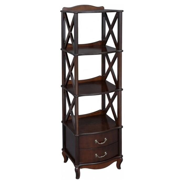 Мебелик Этажерка Джульетта-3 орех недорого